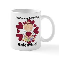 Girl Mommy and Daddy's Valentine Mug