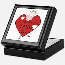 Valentine Cow Keepsake Box