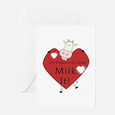 Valentine Cow Greeting Card