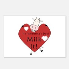 Valentine Cow Postcards (Package of 8)
