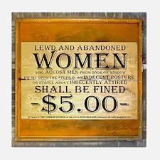 LEWD WOMEN Tile Coaster
