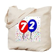 72nd Birthday Tote Bag