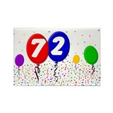 72nd Birthday Rectangle Magnet (10 pack)