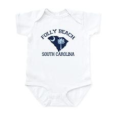Folly Beach - Map Design Infant Bodysuit