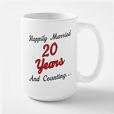 20th Anniversary Gift Married Mugs