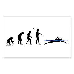 Swim Evolution Rectangle Sticker 50 pk)