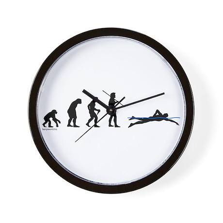 Swim Evolution Wall Clock