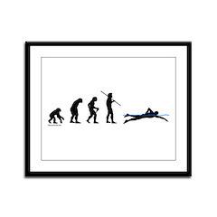 Swim Evolution Framed Panel Print