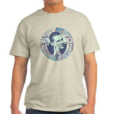 Obama Hope Circle Light T-Shirt