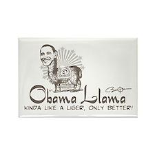 Cool Obama Llama Rectangle Magnet