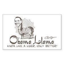 Cool Obama Llama Rectangle Decal