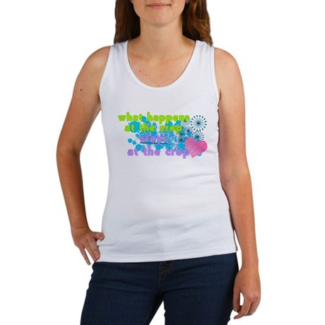 What Happens At The Crop Women's Tank Top