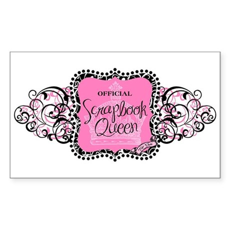 Official Scrapbook Queen Rectangle Sticker
