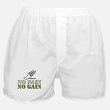 No Pain No Gain Track Boxer Shorts