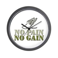 No Pain No Gain Track Wall Clock
