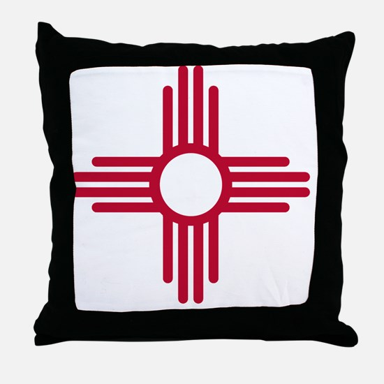 Funny Red state Throw Pillow