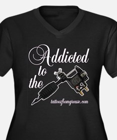 Addicted to the Women's Plus Size V-Neck Dark T-Sh