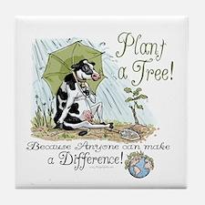 Plant a Tree Cow Tile Coaster