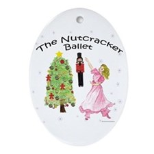 Nutcracker Christmas Oval Ornament