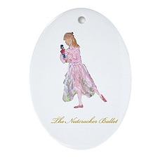 Clara and her Nutcracker Ball Oval Ornament