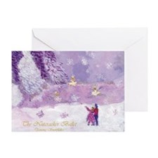 Nutcracker Dancing Snowflakes Greeting Card