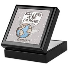 Stick A Fork Earth Keepsake Box