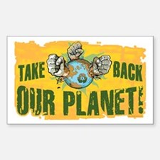 Take Back Our Planet 2 Rectangle Decal