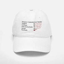 Emergency Comm Checklist Baseball Baseball Cap