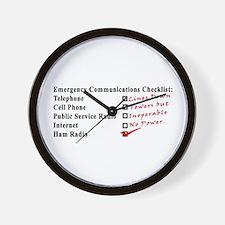 Emergency Comm Checklist Wall Clock
