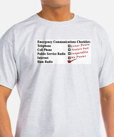 Emergency Comm Checklist Ash Grey T-Shirt