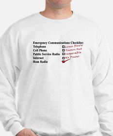 Emergency Comm Checklist Sweatshirt