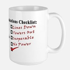 Emergency Comm Checklist Large Mug
