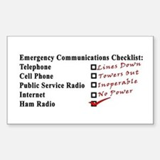 Emergency Comm Checklist Rectangle Decal