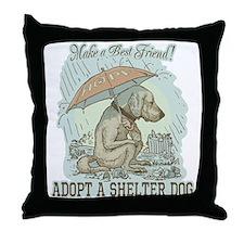 Best Friend Rescue Dog Throw Pillow
