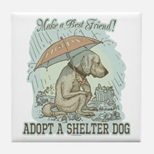 Best Friend Rescue Dog Tile Coaster