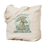 Dog rescue Regular Canvas Tote Bag