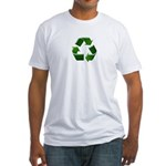 Recycle Sign Fitted T-Shirt