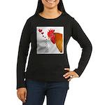 Valentine Rooster in Love Women's Long Sleeve Dark