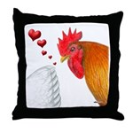 Valentine Rooster in Love Throw Pillow