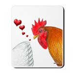 Valentine Rooster in Love Mousepad