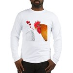 Valentine Rooster in Love Long Sleeve T-Shirt