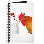 Valentine Rooster in Love Journal