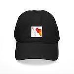 Valentine Rooster in Love Black Cap