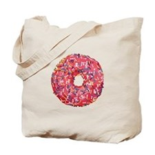 Skull &Bone Sprinkle Donut Tote Bag