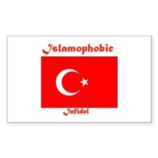 THE RELIGION OF PEACE Rectangle Decal