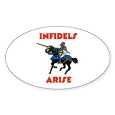 THE RELIGION OF PEACE Oval Sticker (10 pk)