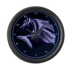Horse Silhouette Large Wall Clock