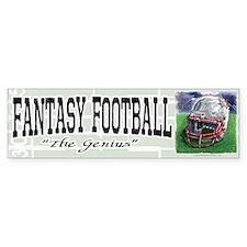 Fantasy Football Genius Bumper Bumper Sticker