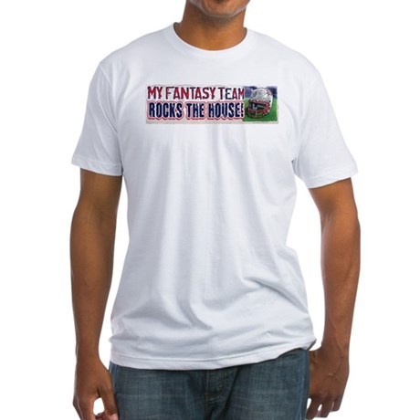 Fantasy Rocks the House Fitted T-Shirt