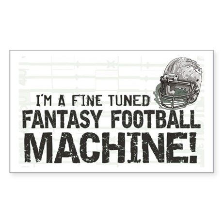 Fantasy Football Machine Rectangle Sticker